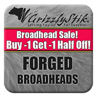 Forged Broadhead Sale<br>Buy 1, Get 1 Half Off