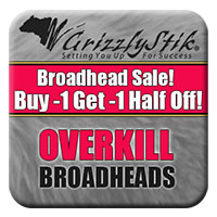 OVERKILL Broadhead Sale<br>Buy 1, Get 1 Half Off