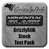 GrizzlyStik Black <br>Stock Test Pack