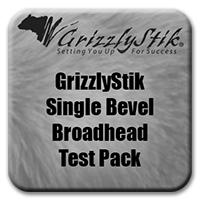 Single Bevel Broadhead Test Pack